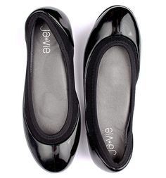 Classic Black Jelly Ballet Flats from Ja-Vie