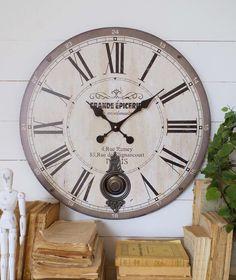 Orologio vintage da parete a pendolo – Mobilia Store