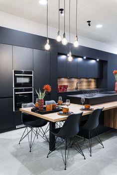 Need some kitchen design ideas? Kitchen Room Design, Kitchen Cabinet Design, Modern Kitchen Design, Kitchen Layout, Home Decor Kitchen, Interior Design Kitchen, Kitchen Furniture, Luxury Kitchens, Home Kitchens