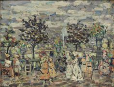 """""""In the Luxembourg Gardens,"""" 1907, Maurice B. Prendergast"""