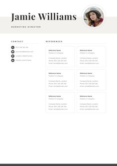 Make your resume, cover letter and references look fantastic and consistent with a modern, creative and professional resume template pack. Creative Cv Template, One Page Resume Template, Letterhead Template, Modern Resume Template, Cover Letter For Resume, Cover Letter Template, Resume Tips, Resume Ideas, Resume References