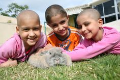 Four Friends at Ezer Mizion's Petting Zoo for Kids with Cancer: The bunny is my best friend... Read more:  http://mahnishmah.com/system/scripts/modules/admin/pages/show_page.cgi?keywords=ezer+mizion_in=Images=GO=search_type=in_all_inside