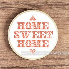 Home Sweet Home Cross Stitch Pattern Home by galabornpatterns