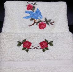 Asciugamano ricamato Embroidery Library designs