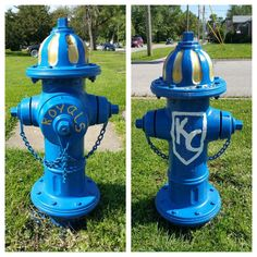 Go Royals! fire hydrant at Mead and 6th St