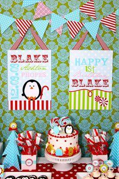 Penguin birthday party!