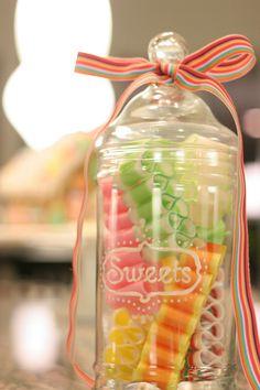 DIY apothecary candy jar