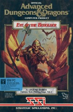 """Eye of the Beholder. Another great SSI """"gold box"""" Dungeons and Dragons computer game. Classic Video Games, Retro Video Games, Video Game Art, Retro Games, Geek Games, Games Box, Old Games, Playstation, Xbox"""