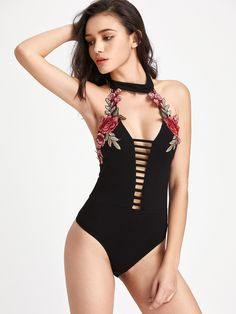 be22e25725aa 24 Best ♡Bodysuit♡ images | Swimwear, Appliques, Embroidery