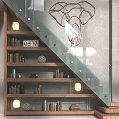 Luscious interior stairwell rendered in KeyShot by Jon Welch. Home Stairs Design, Interior Stairs, Home Interior Design, Modern Stairs Design, Wooden Staircase Design, Wooden Stairs, Stairs In Living Room, House Stairs, Stairs To Loft
