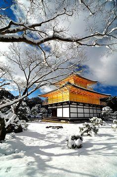 The Kinkakuji Temple, Kyoto in White!