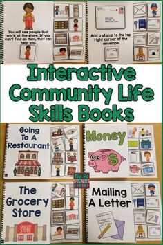 Use these interactive community skills books as to prepare your students for community outings and to learn about community life. These books can also be used as social stories. These books provide the hands on learning experiences that students with disabilities and autism need.