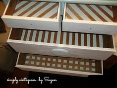 simply vintageous...by Suzan: Drawer interiors