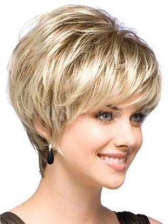 Natural Light Blonde Straight Short Hair Wigs Short Women's Fashion Wig | eBay