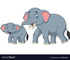 Résultat d'images pour Mom and Baby Elephant Cartoon Clip Art Cartoon Cartoon, Cartoon Drawing For Kids, Baby Drawing, Cartoon Drawings, Cute Drawings, Elephants For Kids, Animals For Kids, Safari Animals, Animal Sketches
