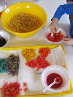 Making our own beads  - - Pinned by @PediaStaff – Please visit http://ht.ly/63sNt for all (hundreds of) our pediatric therapy pins
