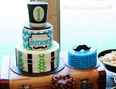 Cool Cakes by Lindsay: Little Man 1st Birthday Cake