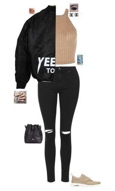"""Black and beige"" by jesshorne2014 ❤ liked on Polyvore featuring Topshop, Proenza Schouler, Charlotte Tilbury and NIKE"