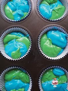 Bird On A Cake: Earth Day Cupcakes