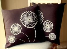48 Trendy Sewing For Beginners Pillows Crochet Cushion Cover, Crochet Cushions, Sewing Pillows, Crochet Pillow, Crochet Doilies, Cushion Covers, Doily Art, Pillow Crafts, Doilies Crafts