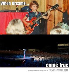 Billie Joe Armstrong had a dream… and I hear that sometimes, they come true.