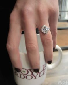 Rethink the marquise! Art Deco marquise diamond engagement ring from Doyle