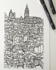 1 point city drawing perspective pinterest city for Architecture definition simple