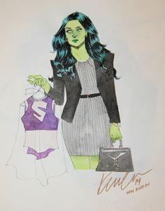 She-Hulk by Kevin Wada *