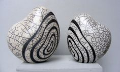 2-sculptures-raku-kim-ceramik-blanc