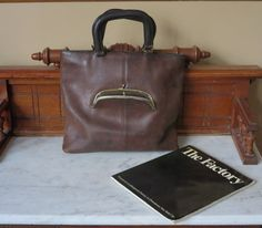 Coach Skinny Tote- Rare NYC PreCreed Mocha Leather Bag- Manufactured At 'The Factory' In New York City U.S.A.- A Piece Of HIstory