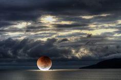 Beauty of a fallen moon