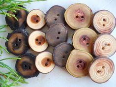 Wooden Tree Branch Wood Buttons Assortment