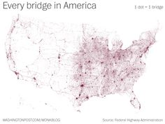 A surprisingly accurate map of the U.S. made with 600,000 bridges — and nothing else - The Washington Post