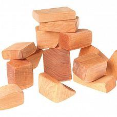 Blokken naturel klein van Grimm's, Bouwen
