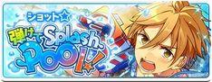 ショット☆弾けてSplashPool! Gaming Banner, Game Logo, Design Reference, Banner Design, Graphic Design, Games, Logos, Anime, Fictional Characters