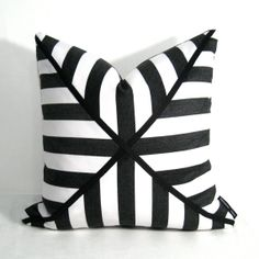 Elegant Black White Pillow Cover Outdoor Cushion Decorative By Mazizmuse, $95.00 On  Etsy!! This