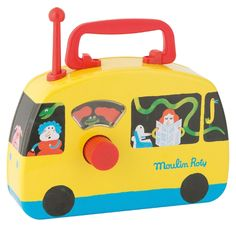 Autobuzul  Magic Galben Radios, Educational Toys For Toddlers, Musical Toys, Bus, Illustration, Giraffe, Musicals, Unique Gifts, Metal
