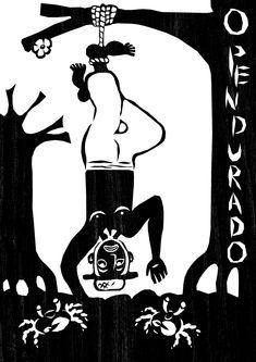 O Pendurado- A abnegação, aceitação do destino, sacrifício aparecem na imagem de um Pescador de Caranguejos (O caranguejo além de ser um dos componentes mais característicos do ecossistema manguezal no Brasil, assume uma notável importância socioeconômica ao longo do litoral nordestino).