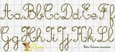 Embroidery Alphabet, Cross Stitch Letters, Notebook, Bullet Journal, Calligraphy, Monograms, Simple, Top, Cross Stitch Font
