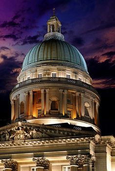 The Big Copper Dome of Old Supreme Court – Singapore by williamcho, via Flickr