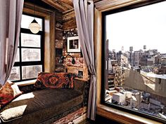 Not a bad view from a day bed. The view from Zach Braff's Union Square Co-op