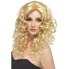 NEW Glamour Wig - Long Curly Blonde Stylish Ladies Party Fancy Dress Accessories Movie Fancy Dress, Fancy Dress Wigs, Fancy Dress Outfits, Dress Clothes, Long Wavy Curls, Long Curly, Blonde Curly Wig, Curly Wigs, Glamour
