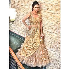 Buy Online Punjabi Wedding Lehenga Designer Collection Call/ WhatsApp us 77164 Golden Bridal Lehenga, Indian Bridal Lehenga, Indian Bridal Outfits, Indian Bridal Wear, Indian Designer Outfits, Designer Dresses, Indian Wear, Indian Gowns Dresses, Pakistani Dresses