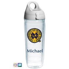 Notre Dame Seal Personalized Water Bottle