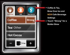 Can not wait for my new Vue to arrive! Isn't this Keurig Vue UI design awesome?