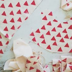 kelli murray inspiration. hand stamped fabric