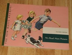 1951 Dick and Jane We Read More Pictures TEACHERS EDITION pre-reading workbook MINT unused