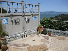 Love the natural look of this shower(and the view is not so bad either)