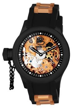Invicta 1847 Men's Watch Automatic Skeleton Dial Russian Diver Polyurethane…