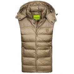 Béžová pánska vesta bez rukávov - fashionday.eu Man Down, Mode Online, Mens Fashion, Jackets, Clothes, Beige, Man Style, Dressy Jackets, Vest Jacket